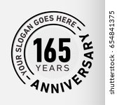 165 years anniversary logo...   Shutterstock .eps vector #654841375