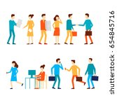 business characters. co working ... | Shutterstock .eps vector #654845716