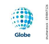 vector logo globe | Shutterstock .eps vector #654847126