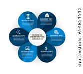 popular infographics elements | Shutterstock .eps vector #654851512