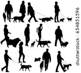 set silhouette of people and... | Shutterstock .eps vector #654851596