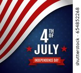 fourth of july greeting card... | Shutterstock .eps vector #654852268