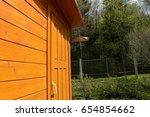 village territory in russia | Shutterstock . vector #654854662
