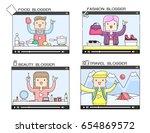 illustration vector of popular... | Shutterstock .eps vector #654869572