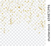golden confetti and streamer... | Shutterstock .eps vector #654871996