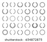 big collection of thirty... | Shutterstock .eps vector #654872875