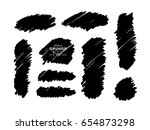 vector illustration. black and... | Shutterstock .eps vector #654873298