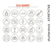 Flea Market Outline Icons....