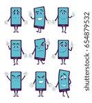 happy smartphone cartoon... | Shutterstock . vector #654879532