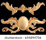 gold ornament on a black... | Shutterstock . vector #654894706