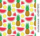 seamless pattern with... | Shutterstock .eps vector #654897892