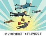 businessmen are floating in the ... | Shutterstock .eps vector #654898036