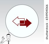 arrow indicates the direction ... | Shutterstock .eps vector #654904066