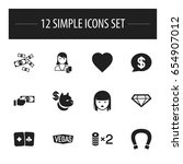 set of 12 editable gambling...