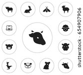 set of 12 editable animal icons....