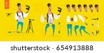 stylized characters set for... | Shutterstock .eps vector #654913888