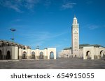 panoramic view of the hassan ii ... | Shutterstock . vector #654915055