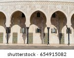 the hassan ii mosque in... | Shutterstock . vector #654915082