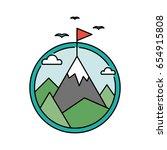 retro success circular icon... | Shutterstock .eps vector #654915808