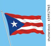 developing flag of puerto rico | Shutterstock .eps vector #654917965