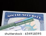u.s.a. green card and social... | Shutterstock . vector #654918595