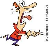 cartoon man in pain from a...   Shutterstock .eps vector #654920506
