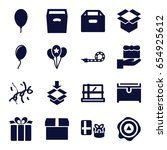 surprise icons set. set of 16... | Shutterstock .eps vector #654925612