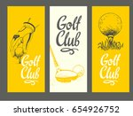 golf layout banners with ball ... | Shutterstock .eps vector #654926752