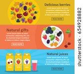 berries food banner horizontal... | Shutterstock .eps vector #654928882