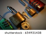 locks and keys | Shutterstock . vector #654931438