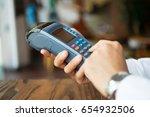 businessman using cashless... | Shutterstock . vector #654932506