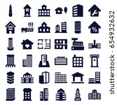 apartment icons set. set of 36... | Shutterstock .eps vector #654932632