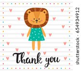 thank you. inspirational quote. ... | Shutterstock .eps vector #654934912