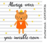 always wear your invisible... | Shutterstock .eps vector #654934936