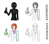chemist.professions single icon ... | Shutterstock .eps vector #654938935