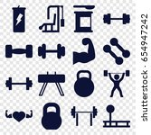 bodybuilding icons set. set of... | Shutterstock .eps vector #654947242