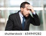 portrait of a careless business ... | Shutterstock . vector #654949282
