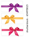 Collection Of Colored Bows Wit...