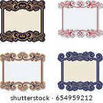 set of vintage hand drawn... | Shutterstock .eps vector #654959212