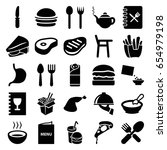 lunch icons set. set of 25... | Shutterstock .eps vector #654979198