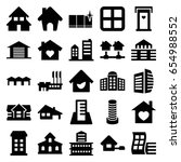 estate icons set. set of 25... | Shutterstock .eps vector #654988552