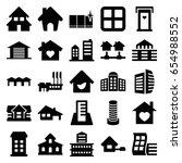 estate icons set. set of 25... | Shutterstock .eps vector #654988552