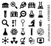 research icons set. set of 25... | Shutterstock .eps vector #654988585