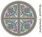 detailed celtic cross design... | Shutterstock .eps vector #65499136