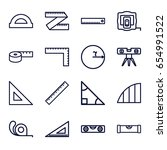ruler icons set. set of 16... | Shutterstock .eps vector #654991522