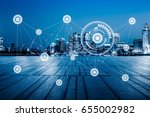 smart city and internet of... | Shutterstock . vector #655002982