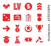 success icons set. set of 16... | Shutterstock .eps vector #655010896