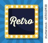 retro frame icon | Shutterstock .eps vector #655010938