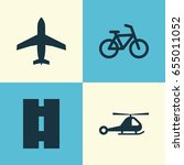 transport icons set. collection ... | Shutterstock .eps vector #655011052
