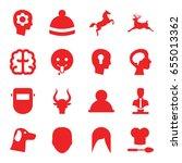 Head Icons Set. Set Of 16 Head...